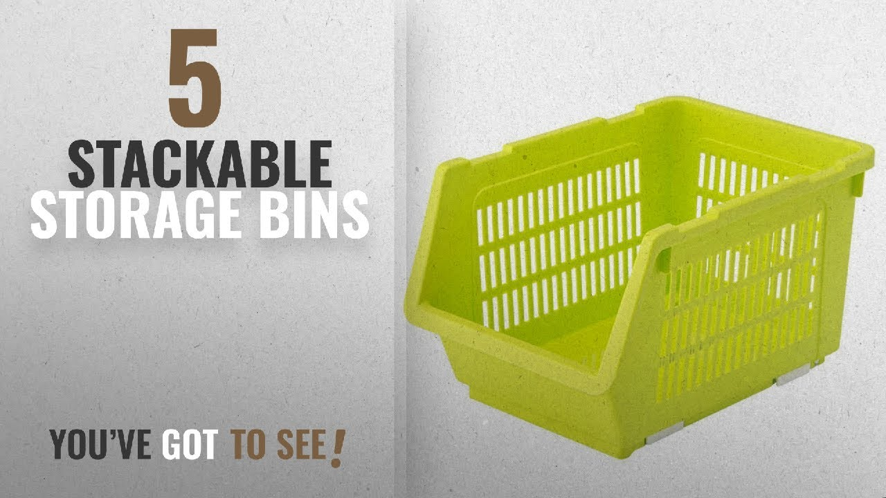 Top 10 Stackable Storage Bins 2018 House Of Quirk Plastic Kitchen Vegetable Fruit