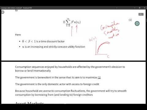 Arellano sovereign debt lecture