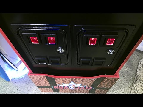 Arcade1up Functional Quad Coin Door Install on NBA Jam from Nine Scorpions