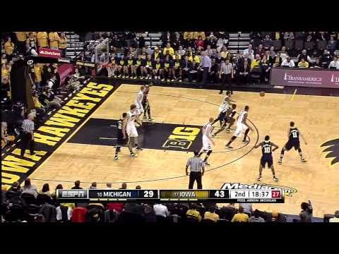 2014-big-ten-men's-basketball-michigan-at-iowa-highlights