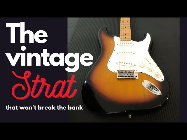 Vintage Japanese Stratocaster: Holly Splendor.