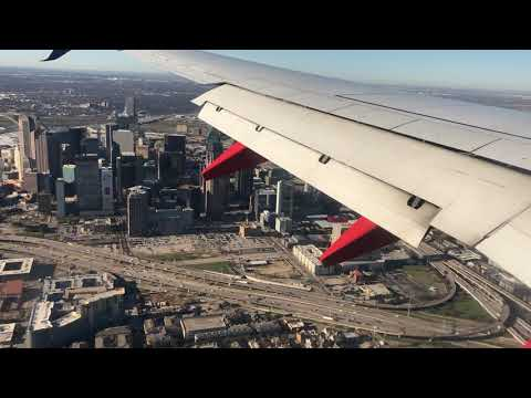 Excellent Aerial View Of Downtown Dallas - Landing At Dallas Love Field - Southwest Airlines