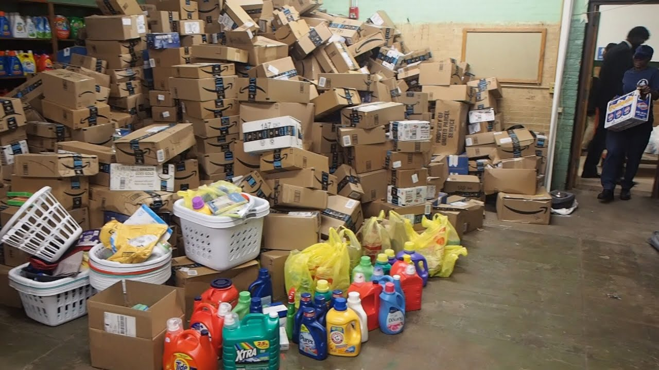 Newark principal flooded with donations for in-school laundry room
