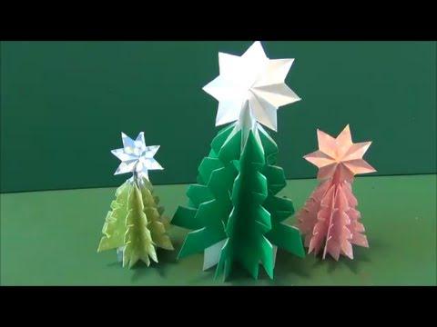ハート 折り紙 折り紙ツリー立体 : youtube.com