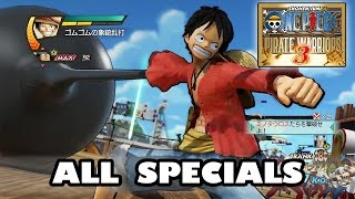 One Piece Pirate Warriors 3 All Specials | ワンピース 海賊無双3