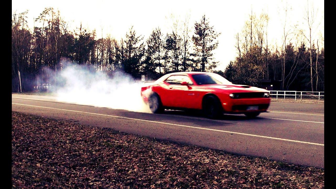 Dodge Challenger Hellcat Srt Burnout Trailer 1 Youtube