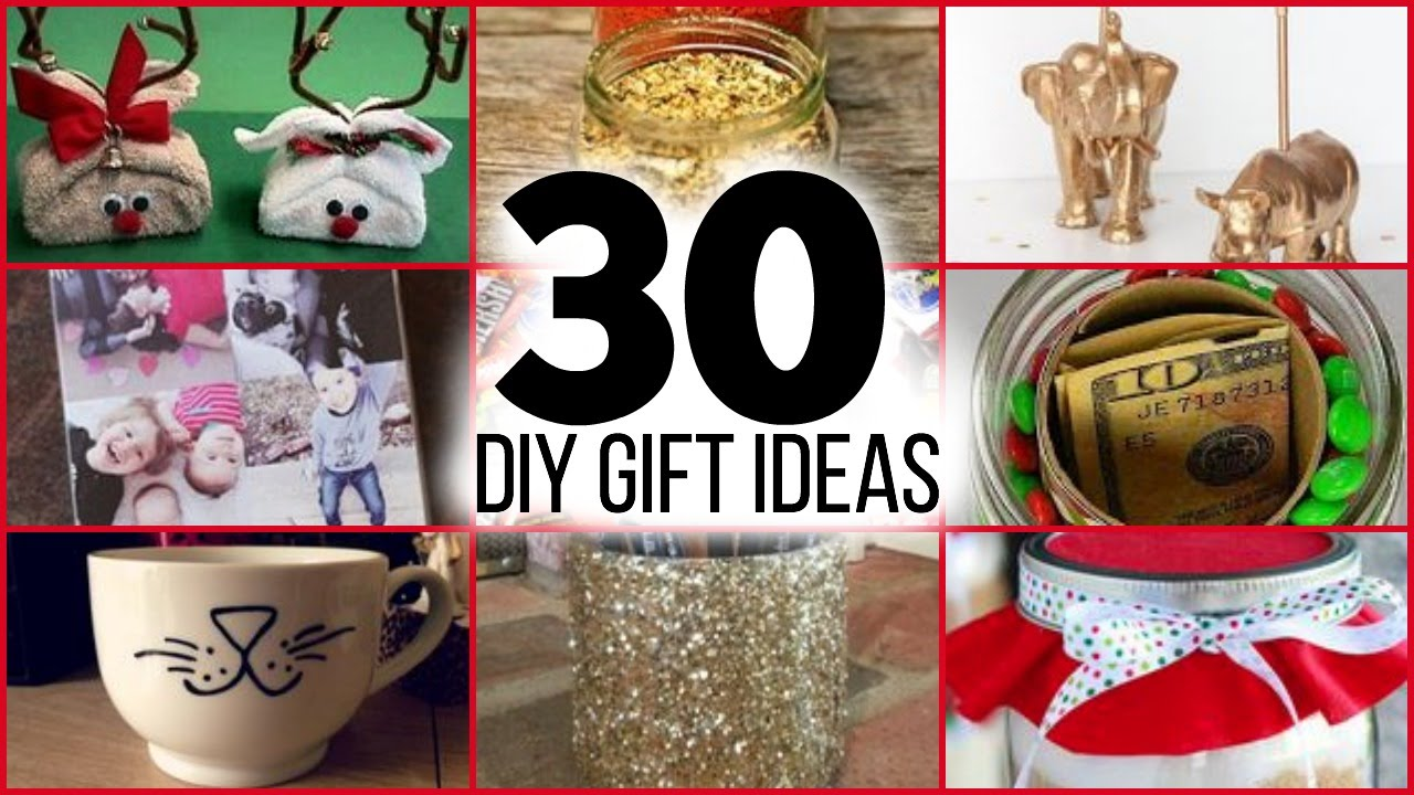 30 diy christmas gifts for guys girls parents friends and family youtube