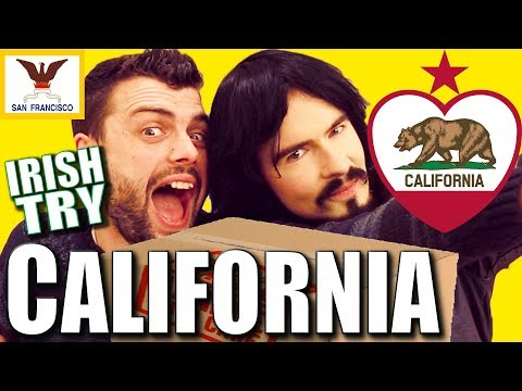 Irish People Taste Test 'CALIFORNIA' - Food / Snacks / UnBoxing!!