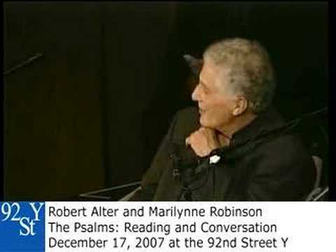 The Psalms with Robert Alter and Marilynne Robinson