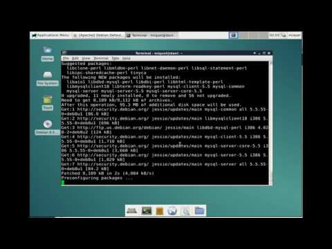 How to install LAMP in debian system from scratch