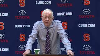 Jim Boeheim vs Virginia Post Game