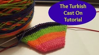 Turkish Cast On Tutorial for Toe Up Socks (Skip to 1:26 to avoid yapping)