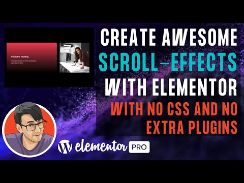 Content sliding in and out with Scroll Effects with Elementor and No Extra CSS and No Extra Plugin
