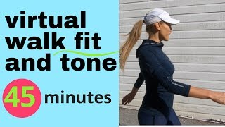 WALKING AT HOME - INDOOR WALKING WORKOUT - 45 MINUTE LOW IMPACT CARDIO FOR WEIGHT LOSS & TONING