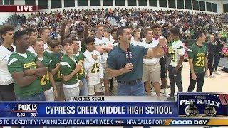 FOX 13 Pep Rally: Cypress Creek Middle High School