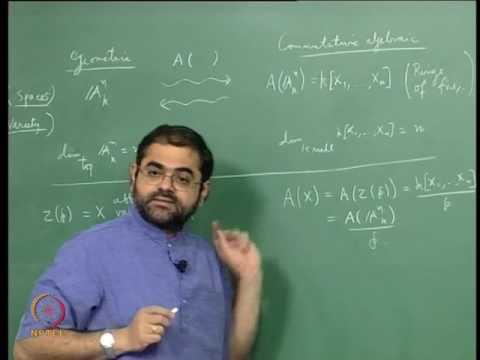 Mod-04 Lec-09 The Ring of Polynomial Functions on an Affine Variety