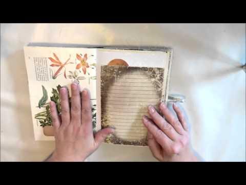 Mood book journal Vintage style