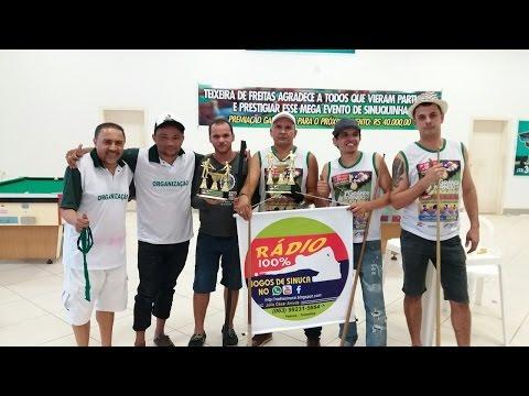 Final do mega evento de sinuquinha de Teixeira de Freitas Bahia ABRIL de 2017