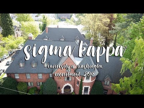 UW Sigma Kappa Recruitment Video 2018