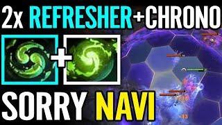NAVI vs 2x REFRESHER CHRONO RIP Dendi Illidan Faceless Void Dota 2