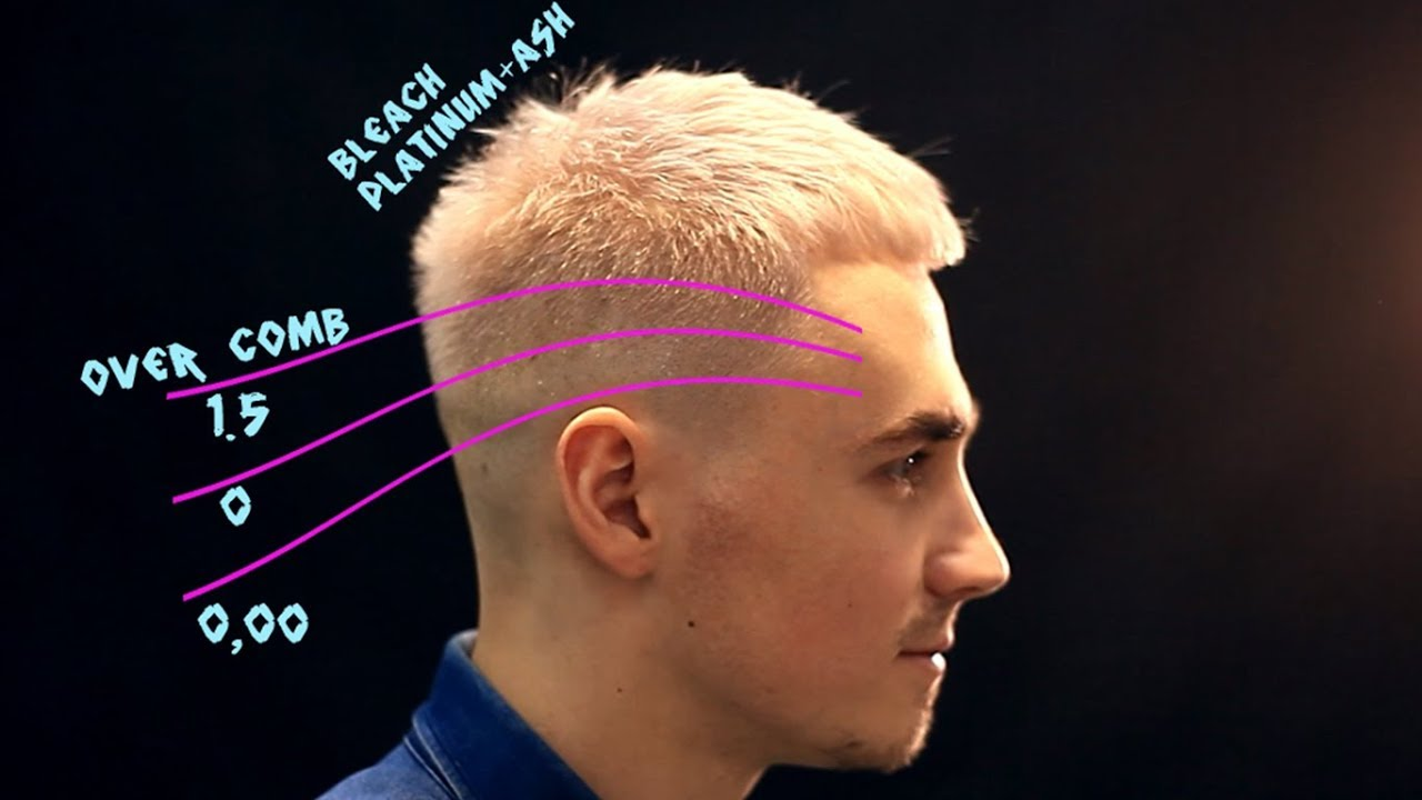 Tutorial Short Men Haircut Fade Blonde Haircolor