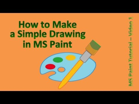 Paint Tutorial How To Make A Simple Drawing In MS