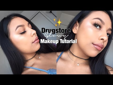 HOW TO GET GLOWY MAKEUP WITH DRUGSTORE PRODUCTS | Jenn Isabel