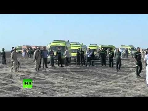 Видео с места крушения самолета «Когалымавиа»