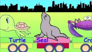 Learn Sea Animal Train - learning animals video for kids