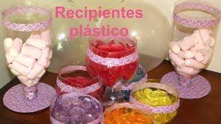 Cómo hacer recipientes de plástico para fiestas. DIY Party ideas containers | Recetas para fiestas thumbnail