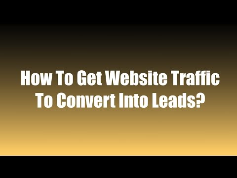How To Get Website Traffic To Convert Into Leads? – Vince Reed