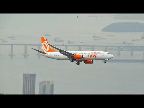 Pouso Sensacional  Aeroporto Santos Dumont Boeing 737-800