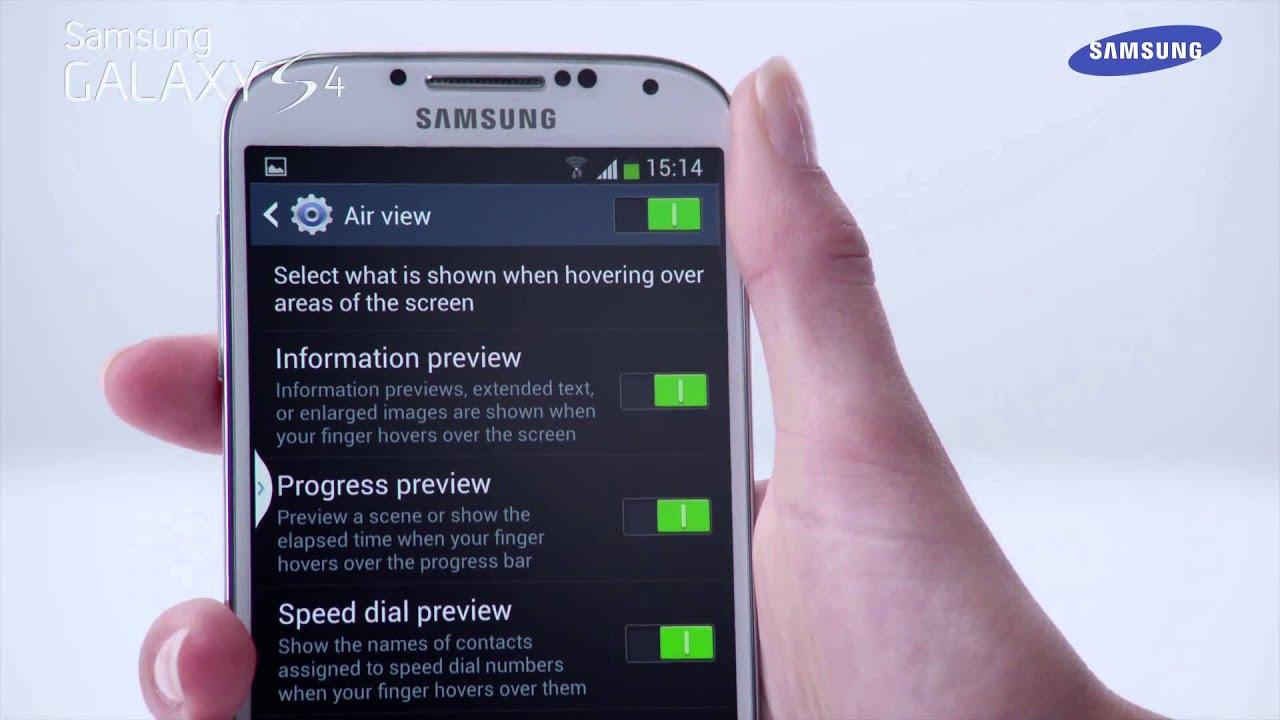 Telefon Samsung Galaxy S4 - Funkcja - Air View