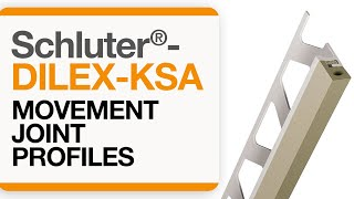 How to install a movement joint in tile: Schluter®-DILEX-KSA
