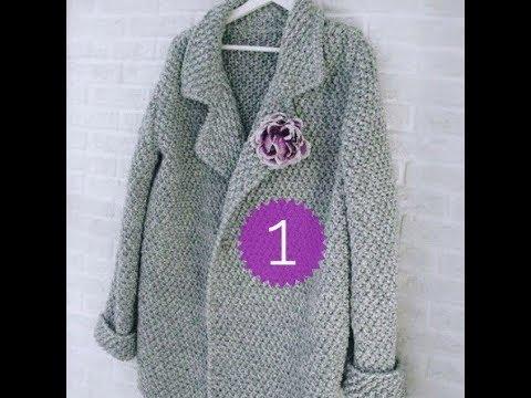Вязаное пальто крючком видео уроки