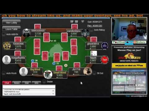 JaoPoker $50GTD Bounty MTT ($10 Bounty on Teach) #3