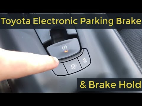 The Toyota Electronic Parking Brake & Brake Hold on the 2018 Toyota C-HR with Jonathan Sewell Sells