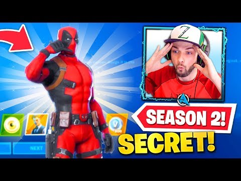 *NEW* DEADPOOL SECRET SKIN In Fortnite! (Chapter 2 Season 2 BATTLEPASS)