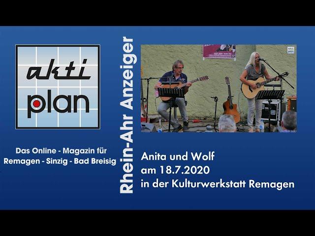 Anita und Wolf in der Kulturwerkstatt Remagen