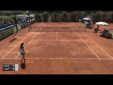 Bara Irina Maria v GattoMonticone Giulia  2017 ITF Santa Margherita Di Pula