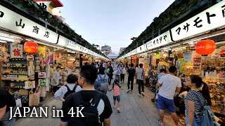 【4K】Evening walk around Asakusa to Skytree, Tokyo