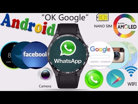 ANDROID часы из Китая KingWear KW88 / для экзаменов / обзор + тест