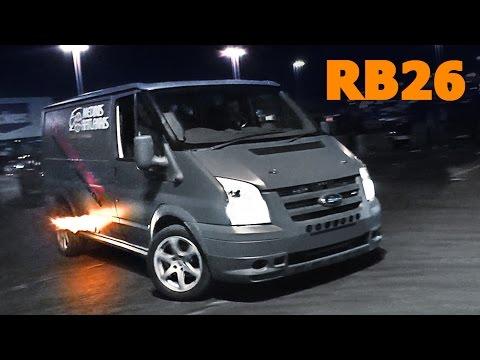 RB26dett Ford Transit van DRIFT!