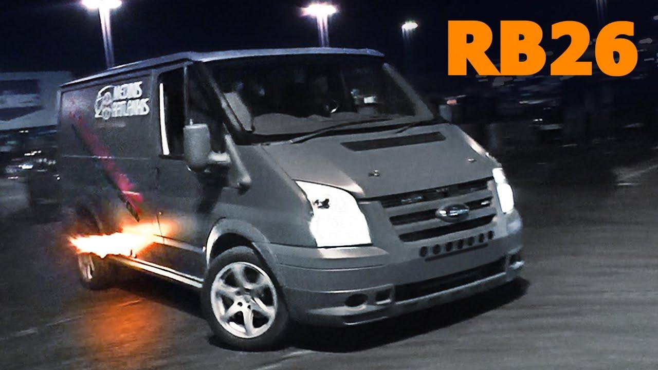 2016 Ford Transit >> RB26dett Ford Transit van DRIFT! - YouTube