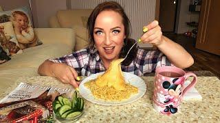 MUKBANG Спагетти с сыром / Spaghetti and cheese / Болталка / не ASMR