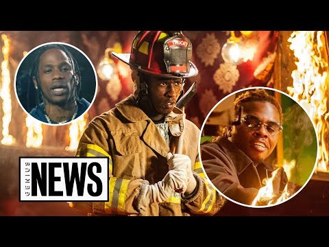 "How Young Thug, Gunna & Travis Were Set On Fire In The ""Hot"" Music Video 