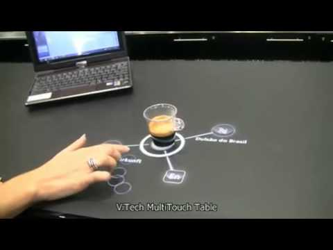 Multitouch Table Show Interactive Menu   YouTube