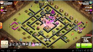 TH9 vs TH9 gowipe attack | 3 stars | clan wars | clash of clans