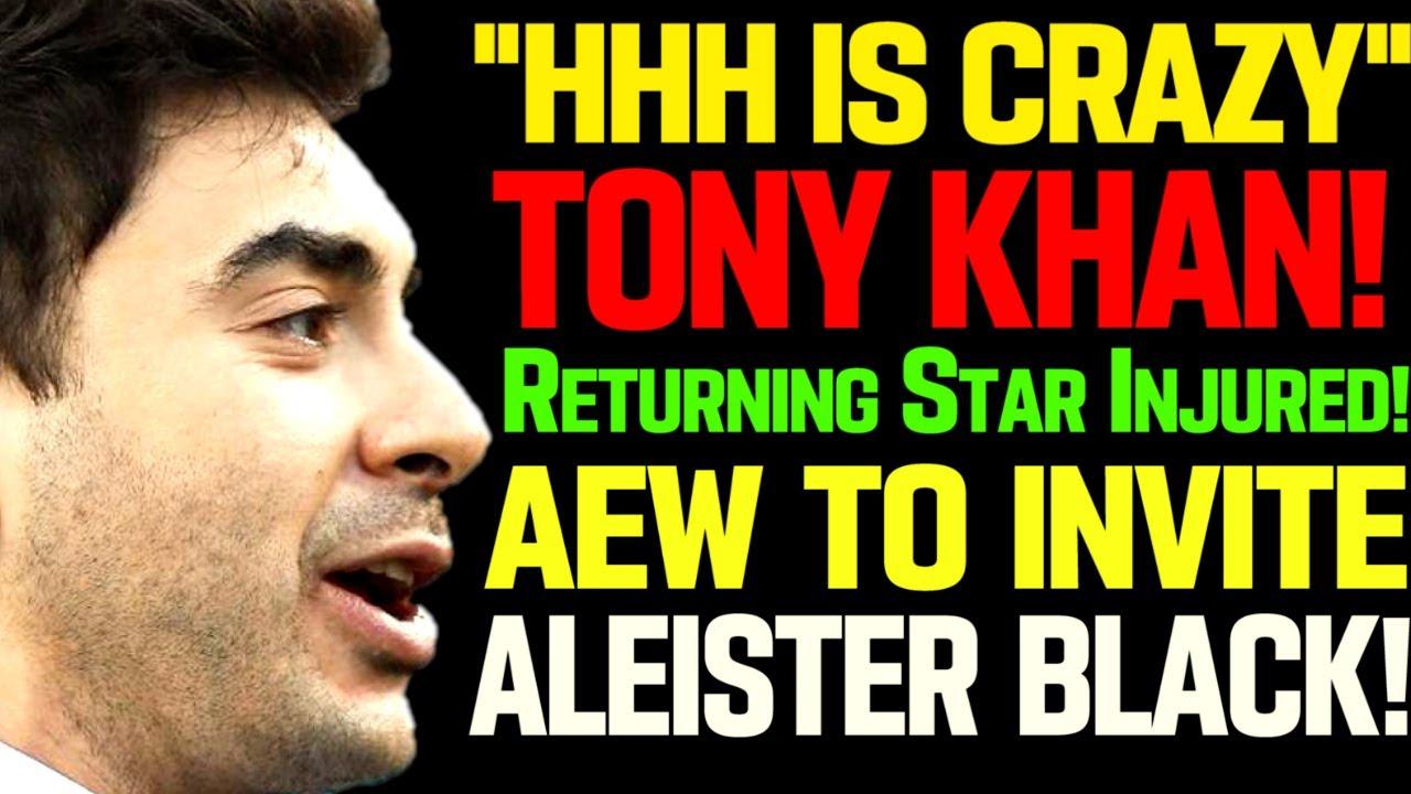 WWE News! Tony Khan Goes Off On Triple H! WWE Wrestler Is Injured! Aleister Black In AEW! AEW News!