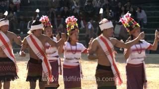 Folk cultural dance of the Kom tribe of Manipur at Hornbill festival
